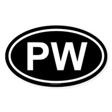 PW Oval Decal
