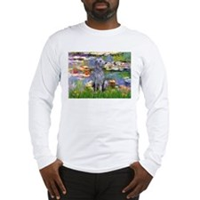 Lilies / Scot Deerhound Long Sleeve T-Shirt