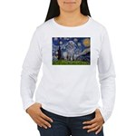 Starry /Scot Deerhound Women's Long Sleeve T-Shirt