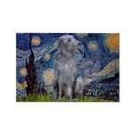 Starry /Scot Deerhound Rectangle Magnet
