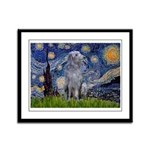 Starry /Scot Deerhound Framed Panel Print