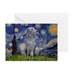 Starry /Scot Deerhound Greeting Cards (Pk of 20)
