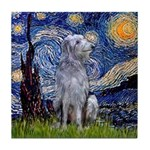Starry /Scot Deerhound Tile Coaster