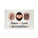 Peace Love Accounting Accountant Rectangle Magnet