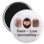 Peace Love Accounting Accountant Magnet