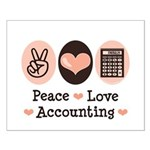 Peace Love Accounting Accountant Small Poster