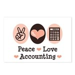 Peace Love Accounting Accountant Postcards (Packag