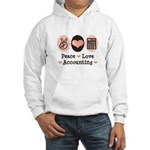 Peace Love Accounting Accountant Hooded Sweatshirt