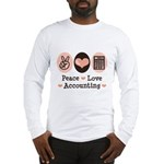Peace Love Accounting Accountant Long Sleeve T-Shi