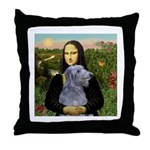 Mona /Scot Deerhound Throw Pillow