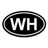 WH Oval Bumper Stickers