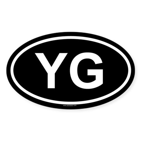 YG Oval Sticker