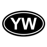 YW Oval Decal