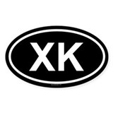 XK Oval Decal