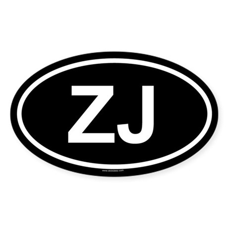 ZJ Oval Sticker