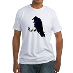 Raven on Raven Fitted T-Shirt