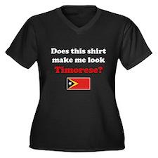 Make Me Look Timorese Women's Plus Size V-Neck Dar