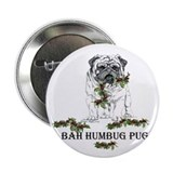 "Christmas Pug Holiday Dog 2.25"" Button (100 pack)"