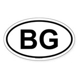 BG Oval Decal