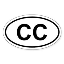 CC Oval Bumper Stickers