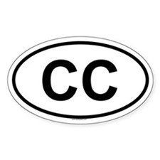 CC Oval Decal