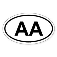 AA Oval Decal
