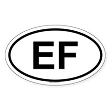 EF Oval Bumper Stickers