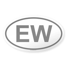 EW Oval Decal
