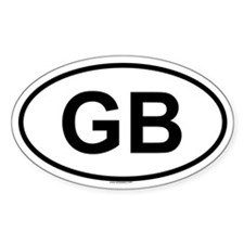 GB Oval Decal
