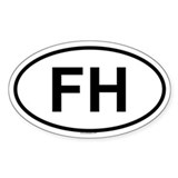 FH Oval Decal