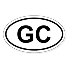 GC Oval Decal