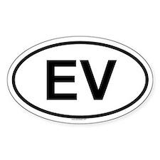 EV Oval Decal