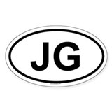 JG Oval Decal