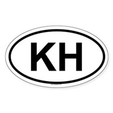 KH Oval Decal