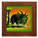 retro art!'s SPIKED DINO Framed Tile
