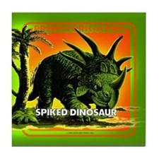 retro art!'s SPIKED DINO Tile Coaster