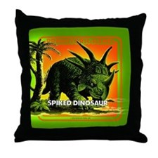 retro art!'s SPIKED DINO Throw Pillow