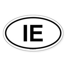 IE Oval Decal