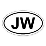 JW Oval Decal