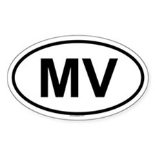 MV Oval Decal