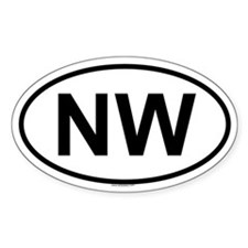 NW Oval Decal