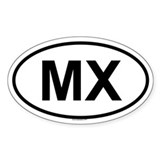 MX Oval Decal