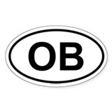 OB Oval Decal