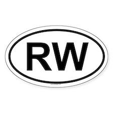 RW Oval Decal