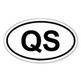 QS Oval Decal