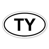 TY Oval Decal