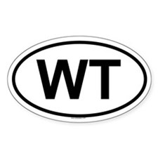 WT Oval Decal
