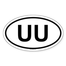 UU Oval Decal