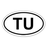 TU Oval Decal