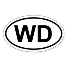 WD Oval Decal